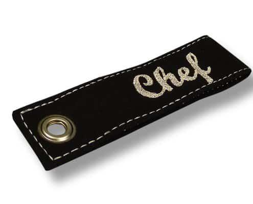Schlüsselanhänger mit Flachstick