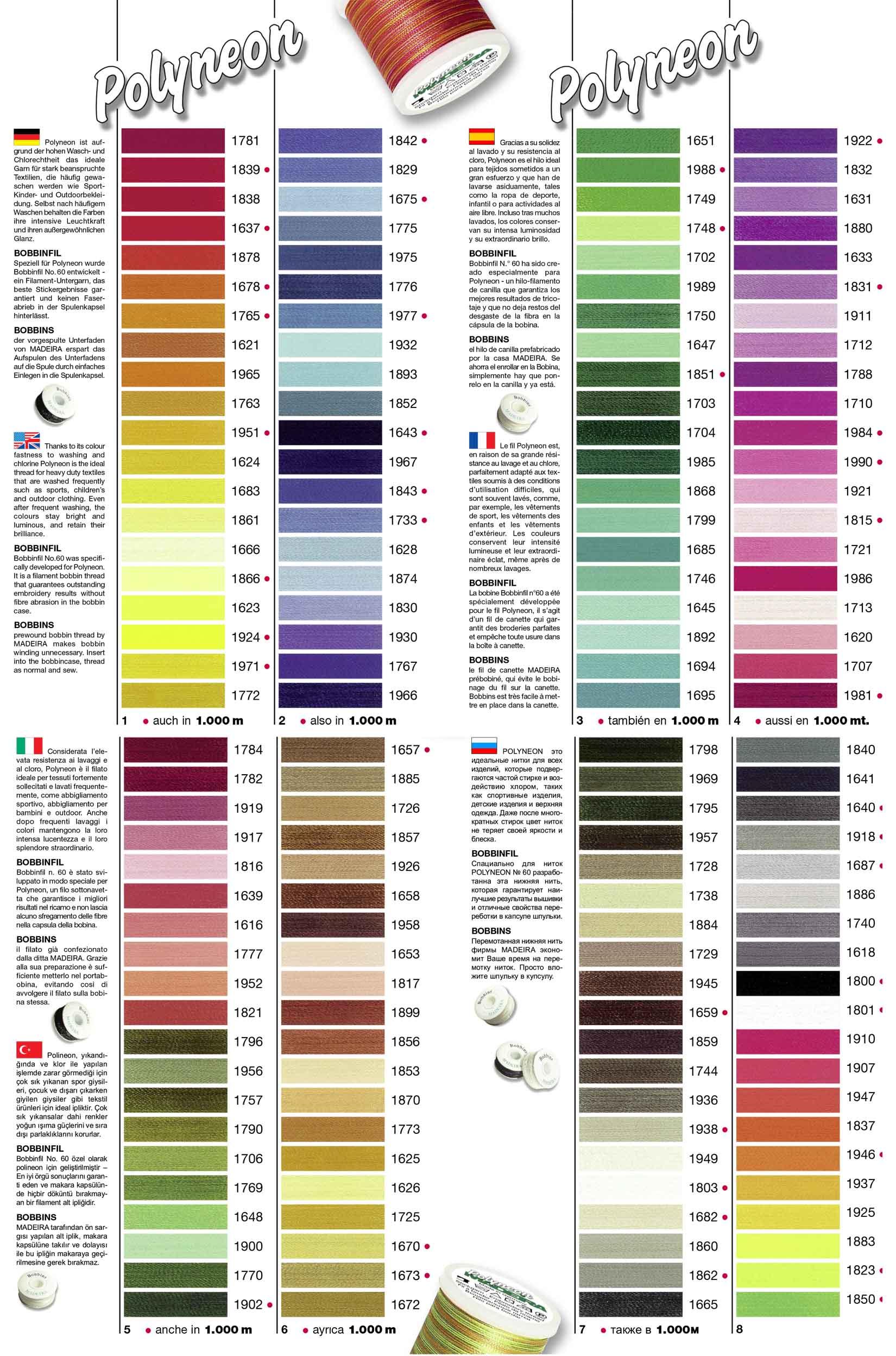 POLYNEON Garnfarben
