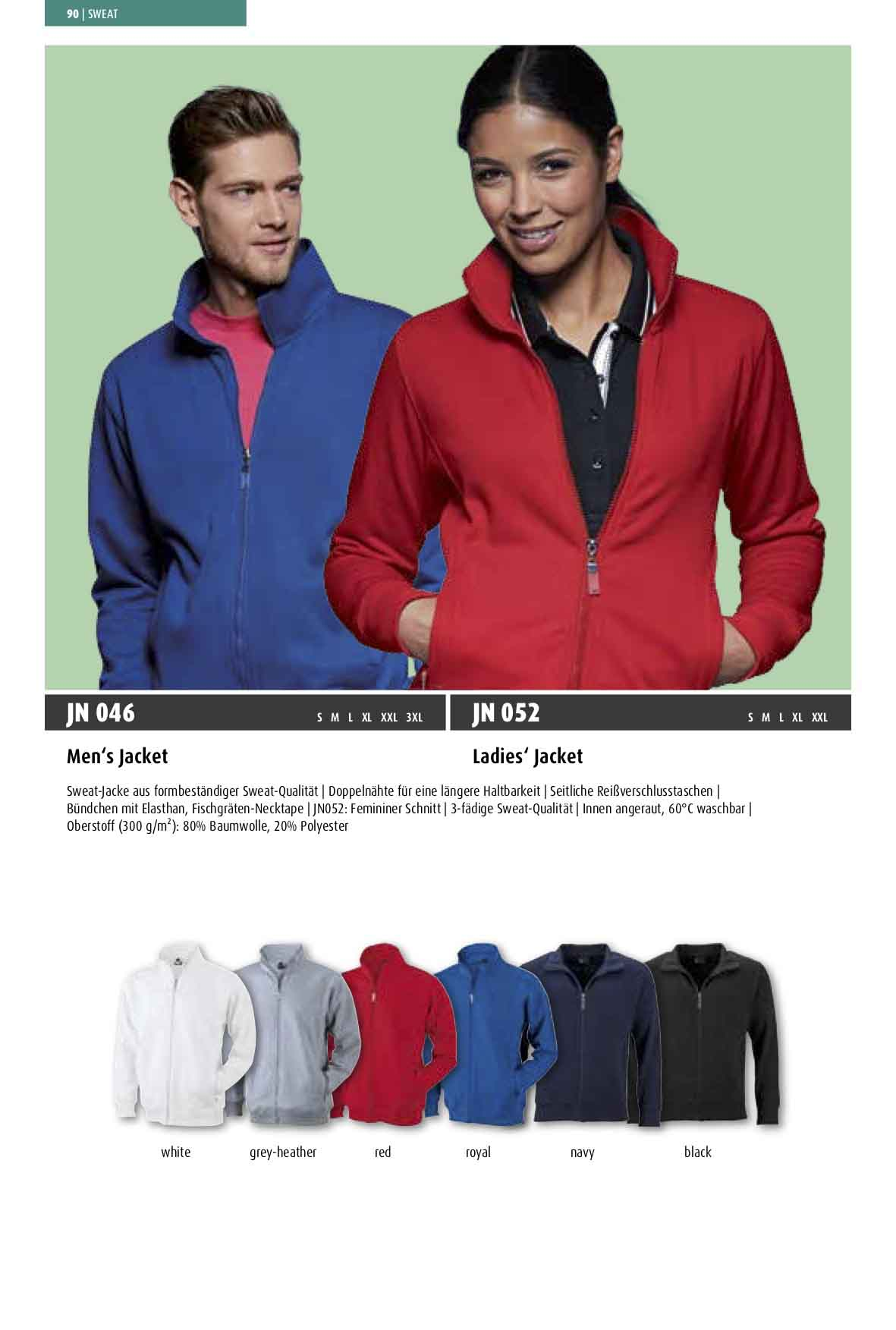 Katalog Sweat-Jacke Men