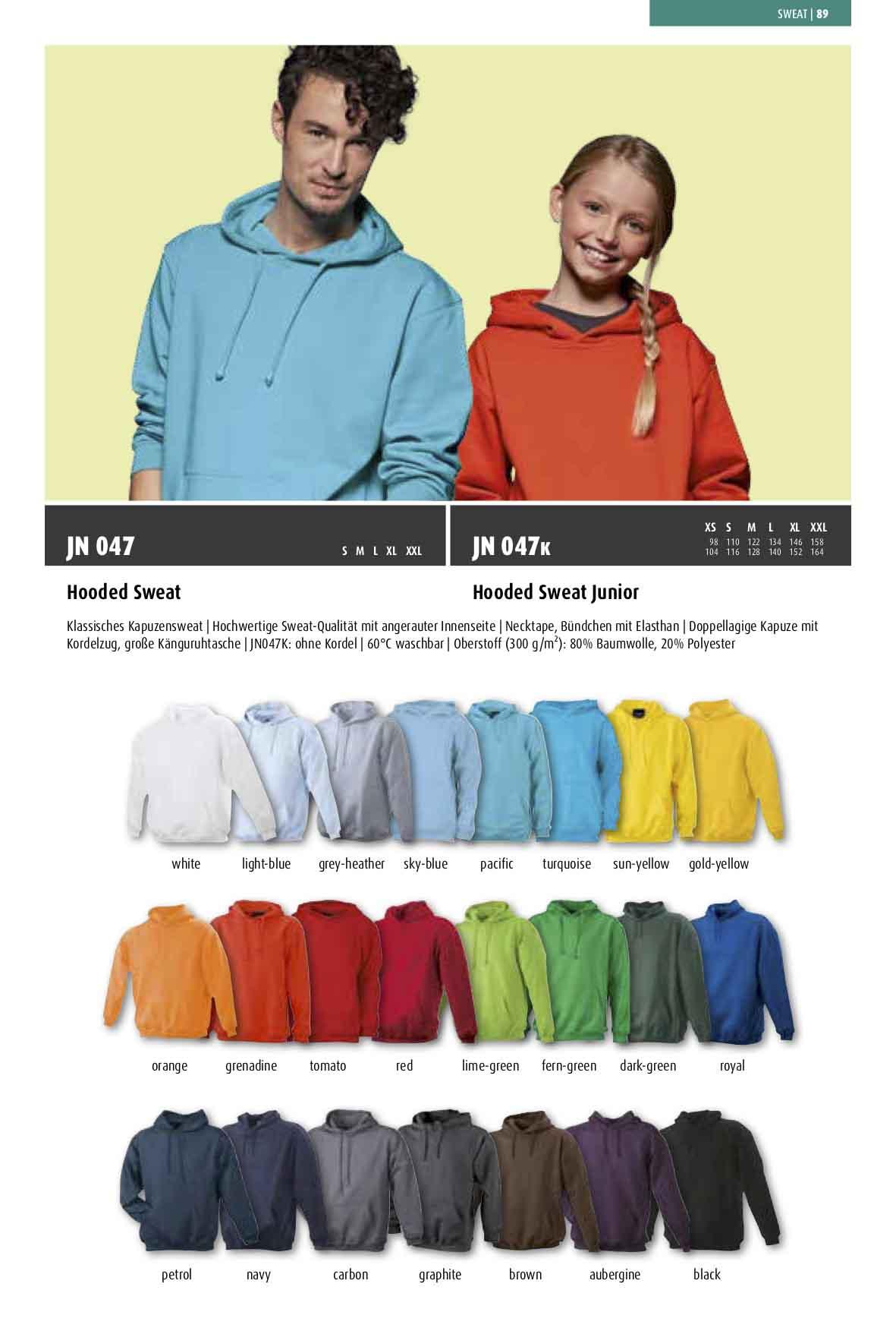 Farben Kapuzensweatshirt