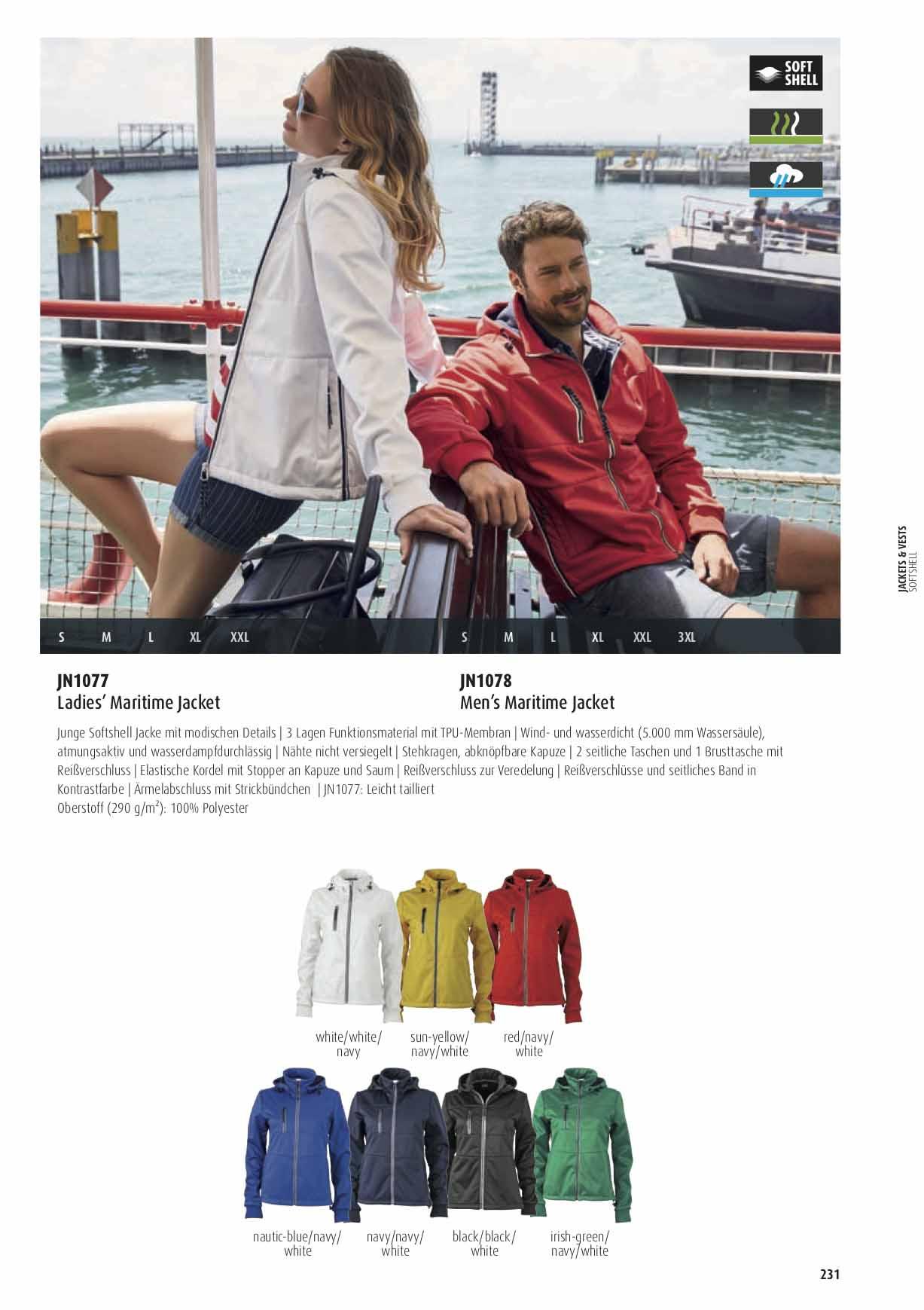 Farben Softshelljacke maritim