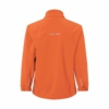 Kinder Softshell Jacke pop-orange Rückansicht