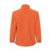 Kinder Softshell Jacke pop-orange Rückansicht