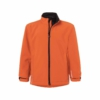 Kinder Softshell Jacke pop-orange Frontansicht