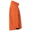 Kinder Softshell Jacke pop-orange Seitenansicht