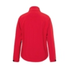Herren Softshell Jacke rot Rückansicht