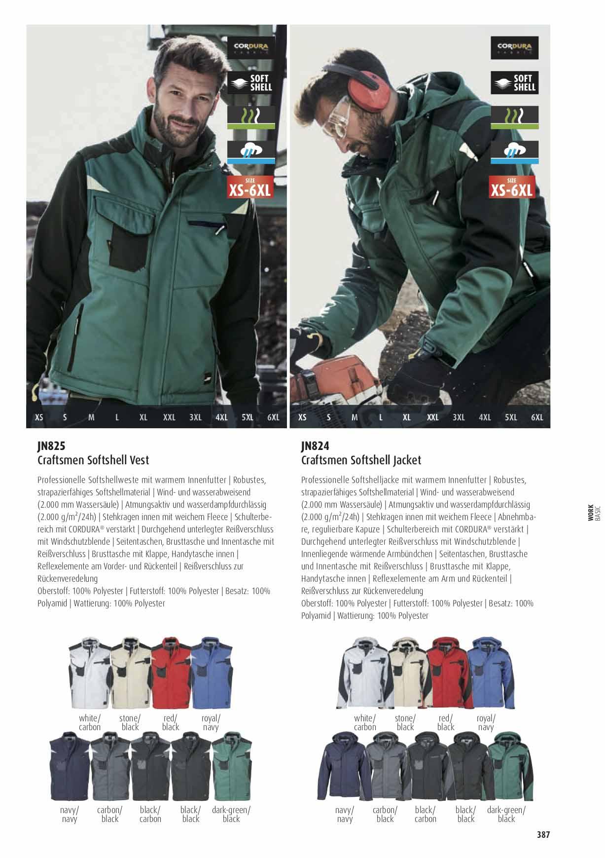 Farben Workwear Winter Softshell Jacke