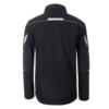 Winter Workwear Softshell Jacke black_lime-green Rückansicht