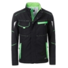 Winter Workwear Softshell Jacke black_lime-green Frontansicht
