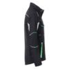 Winter Workwear Softshell Jacke black_lime-green Seitenansicht