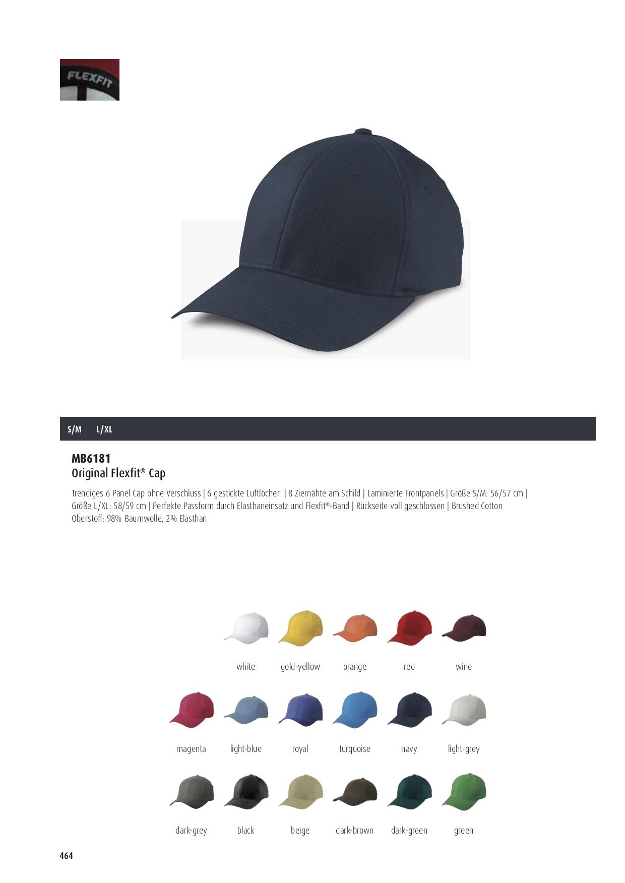 Original Flexfit® Cap Farben