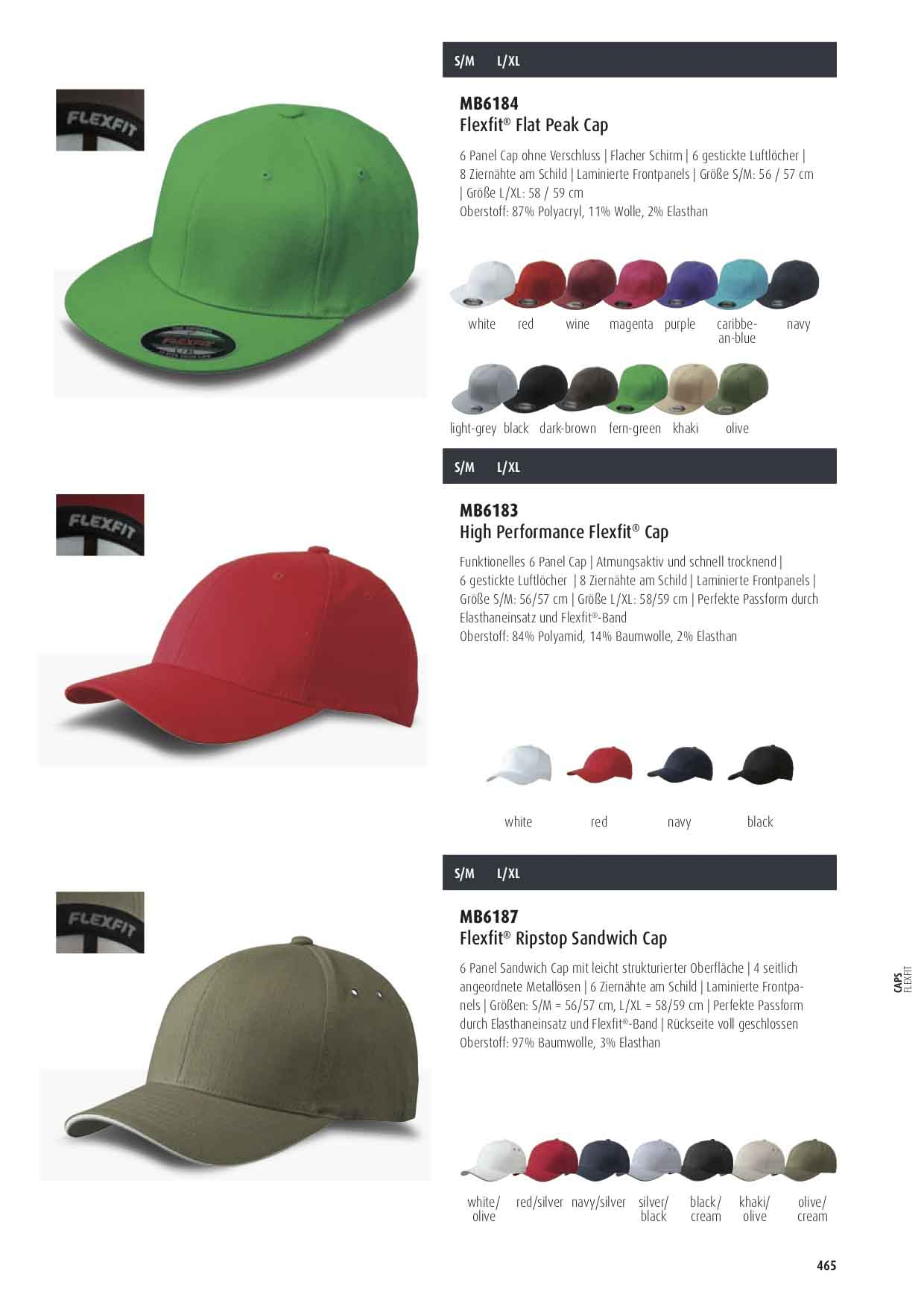 Flexfit® Flatpeak Cap Farben