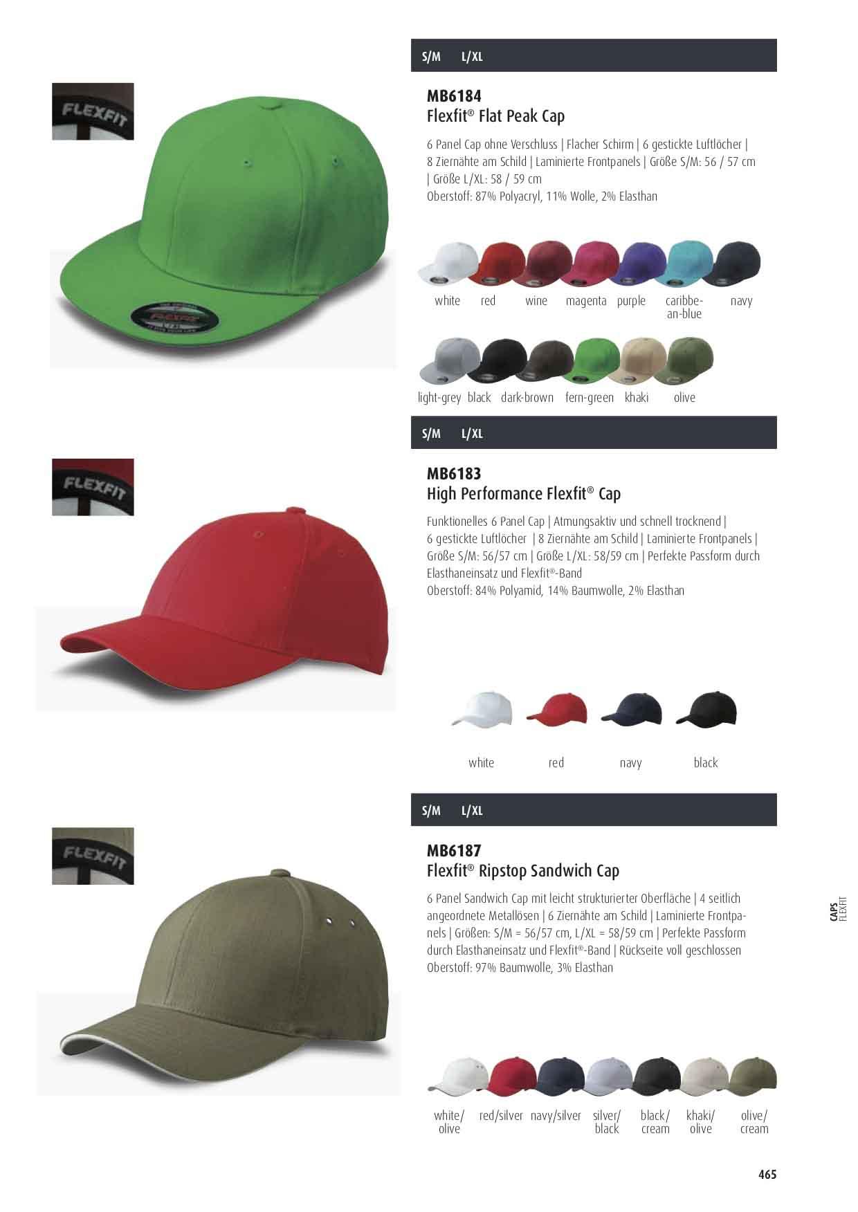 Flexfit® Flatpeak Cap Farben