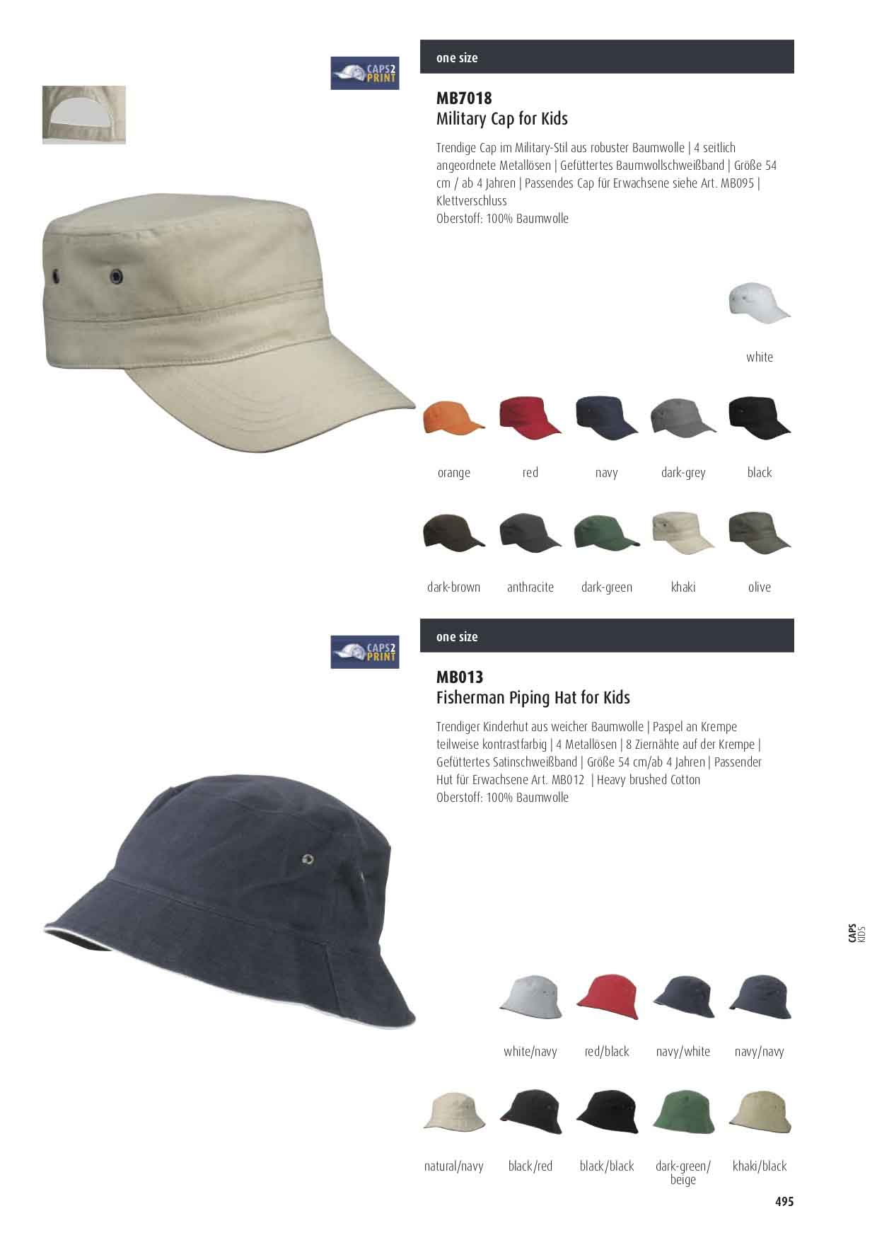 Farben Kinder Military Cap