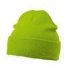 Strickmütze mit Krempe Farbe lime green