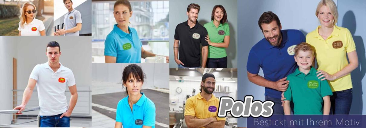 Polos bestickt mit Ihrem Motiv
