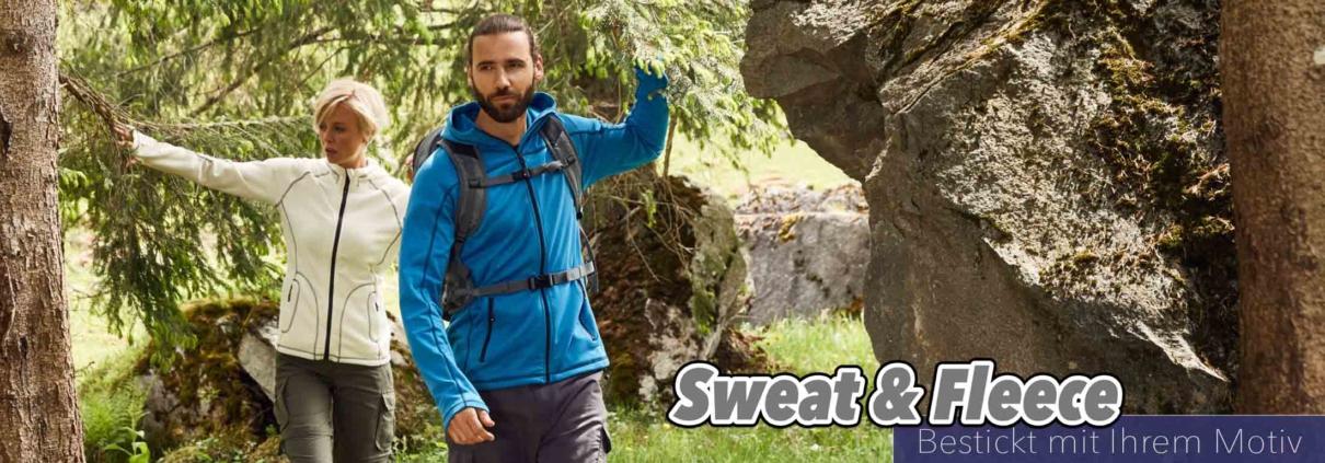 Sweats und Fleece bestickt mit Ihrem Motiv