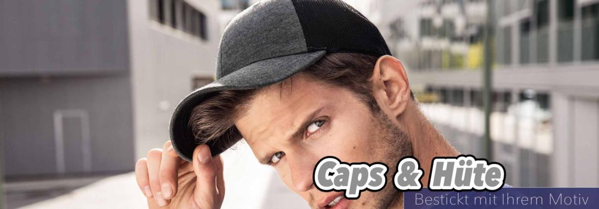 Caps und Hüte bestickt mit Ihrem Motiv